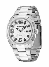 Police Texas Watch Stainless Steel Bracelet Strap Silver Tone Dial 13836JS/04M