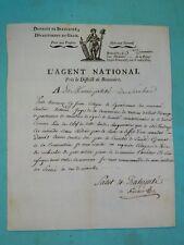 5-REVOLUTION Gard  BEAUCAIRE 1795 Recherche d'1 Contre-Révolutionnaire à SERNHAC