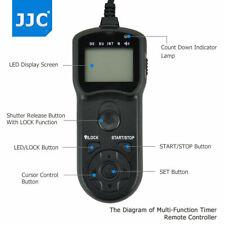 JJC LCD Timer Remote Control for Nikon D5 D4 D850 D810 D800 D700 D500 D300 D200