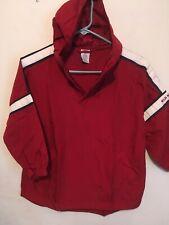 Old Navy Boys 6-7 Red Half-Zip Hooded Jacket Water Resistant Lightweight Rain