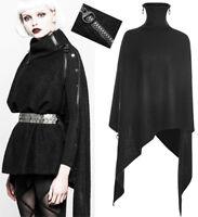 Cape manteau pull asymétrique zippé gothique punk lolita fashion hiver PunkRave