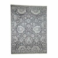 "7'10""x10'4"" HandKnotted Oushak Influence Silk with Oxidized Wool Rug G40860"