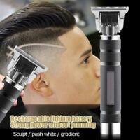 HOT Portable Electric Pro T-outliner Cordless Trimmer Clipper Hair Set P7E2