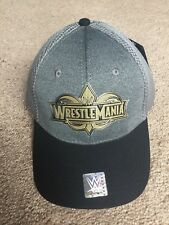 Wrestlemania 34 Hat WWE Adjustable size New Orleans WWF NXT cap logo Authentic