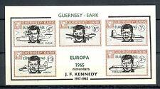 LOCAL SARK 1 IMPERF BLOCK   **   MNH VF OVERPRINT - EUROPA 1965 -KENNEDY