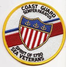 "Uscg United States Coast Guard Patch Sea Veterans ""Spirit of 1790"" 4 In #2343"