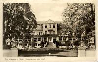 Bad Köstritz Thüringen DDR Postkarte 1955 gelaufen Partie am Sanatorium der SVA