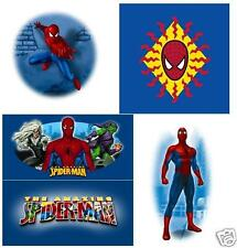 SpiderMan #2  4 iron ons on a 8x10 T-Shirt Iron on Transfer Spider Man