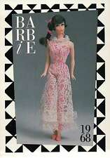 """Barbie Collectible Fashion Trading Card  """" Jump Into Lace """" Pink Jumpsuit 1968"""