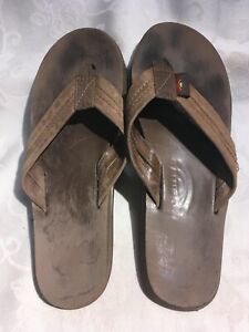 Rainbow Women's Brown Leather Thong Sandals Size Small 5.5–6.5