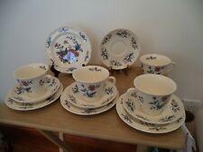 12 PIECE Wedgwood Williamsburg Potpourri Cups and Saucers & PLATES DESERT SET