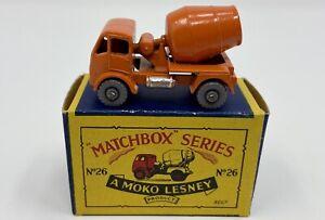 Matchbox No. 26 ERF Cement Mixer in Original 'B3' Box