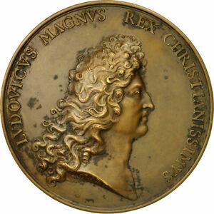 [#550385] France, Medal, Ludovicus Magnus Rex Christianissimus, 1677, Molart, TT