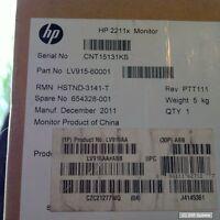 """HP LCD 2211x LED 21,5"""" TFT Monitor TN 16:9 wide 5ms 1000:1 VGA DVI-D, NEUW."""