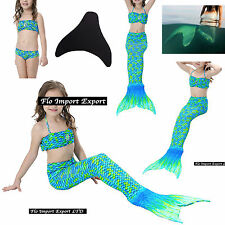 Costume Coda Sirena Monopinna Girl Swimsuit Mermaid Tail Mare Piscina SM0018 BV