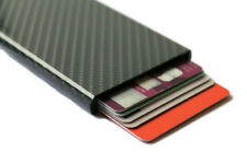 Handcrafted 6D Carbon Fiber Slim ID Credit Card RFID Protector Holder Wallet