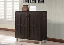 Wholesale Interiors Excel Sideboard Storage Cabinet, Dark Brown