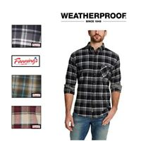 Weatherproof Vintage Men's Long Sleeve Lightweight Plaid Flannel Shirts VARIETY!