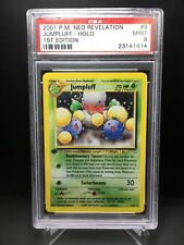 Pokemon 1st Edition HOLO  2001 JUMPLUFF Neo Revelation PSA 9 MINT
