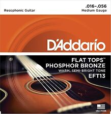 D'Addario Guitar Strings  EFT13 Flat Top  Phosphor Bronze  Acoustic  Medium