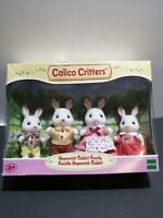 Calico Critters Hopscotch Rabbit Family 4 Figures. (((DAMAGED BOX)))