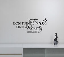 Henry Ford Quote Wall Decal Business Inspirational Words Vinyl Sticker Decor fq1