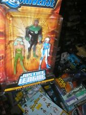 DC UNIVERSE JUSTICE LEAGUE UNLIMITED- GREEN LANTERN, ICE, AND FIRE. UNOPENED.