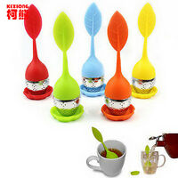 Food-grade Silicone Tea Strainer Herbal Spice Infuser Tea Filter Stainless Steel