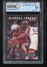 Michael Jordan 1992-93 Skybox USA Team #437 HOF Chicago Bulls GEM MINT 10