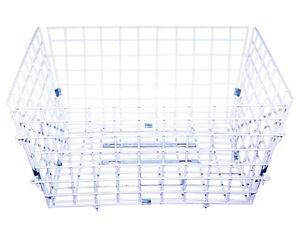"Steel Rear Wire Trike Tricycle Basket White: 22x18x11"""