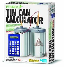 TIN CAN CALCULATOR - EDUCATIONAL ELECTRICITY GREEN SCIENCE KIT KIDZ LABS 4M