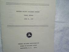1969 WESTERN PACIFIC RAILROAD CO. EXPLOSION ACCIDENT REPORT tobar,nevada,train