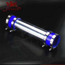 """Aluminum 80mm 3.15"""" Turbo Intercooler Pipe Piping Tubing + silicon hose+clamp BL"""