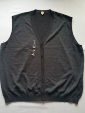 März tamaño extra Chaleco de punto lana de Merino Gris Hombre gr.70-gr.4xl NUEVO