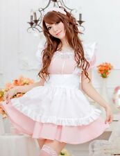 Compliant Pink Maid Valentine Party Costume Outfit Lingerie, Cosplay Fancy Dress