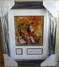 "Leroy Neiman ""NBA ALL STAR GAME"" Famous players basketball framed bookplate"