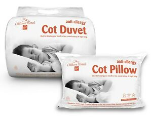 New 2-In-1 Children Baby Cot Duvet and Cot Pillow Bedding Set Anti-Allergy Tog