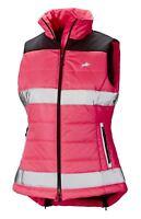 Harry Hall Ladies Hi Viz  Reflective Safety Quilted Zip Up Gilet Jacket