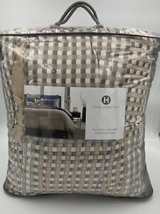 HOTEL COLLECTION PATCHWORK GEO FULL QUEEN COMFORTER RETAIL $385 BRAND NEW