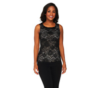 Kathleen Kirkwood Lace Cami with Tummy Control Tube Color CHAMPAGNE Size 1X