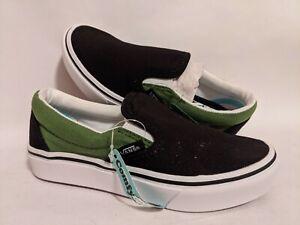 Vans New ComfyCush Slip-On 2-Tone Cactus/Black Youth Size USA 13