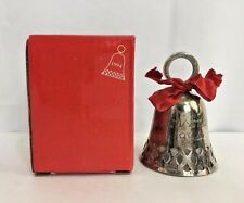 1994 International Silver Co. Christmas Bell Silver Plated Nos