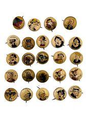1940's Lot of 24 Vintage Kellogg's PEP Pin Backs! 189