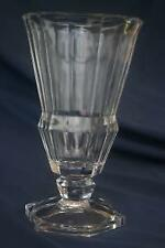 "Val St Lambert Gardenia Footed Vase 10"" Signed"