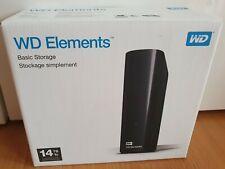 WD 14 TB Disco Duro Externo De Escritorio Elements-USB 3.0. nuevo Sellado.