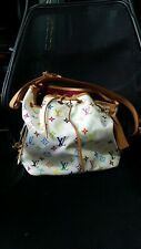 Genuine Authentic Louis Vuitton LV Petit Noe White Monogram Multicolore