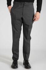 Z ZEGNA New Man Gray Slim Fit Wool Stretch Pants Trousers Size 8 50R ita $331