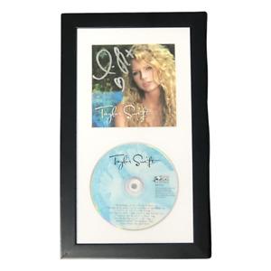 TAYLOR SWIFT AUTOGRAPHED DEBUT ALBUM CD IN FRAME 2006 signed