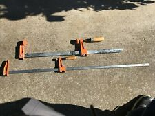 """LOT OF 2 JORGENSEN ADJUSTABLE BAR CLAMPS - 3724 24"""" And  3736 36"""""""