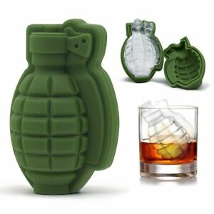 Hot 3D Big Silicone Ice Cube Mold Tray Large Shape Grenade Whiskey Drinks Candy